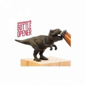 Flasköppnare i form av en gapande dinosaurie. Du hittar den hos Presenter.se