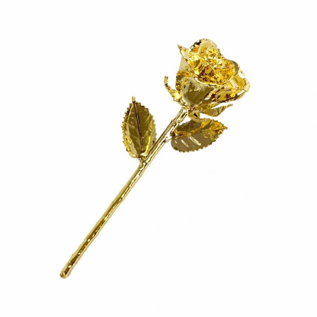 Guldpläterad ros (24 K). Du hittar den hos presenter.se.