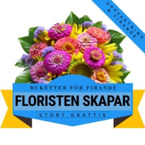 Floristen skapar en festlig bukett för uppvaktning och firande! Ett alternativ hos Florister i Sverige